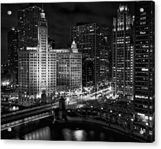 Wrigley Building In Chicago Acrylic Print