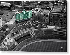 Wrigley Field Chicago Sports 04 Selective Coloring Acrylic Print by Thomas Woolworth