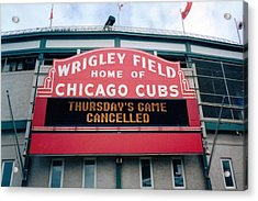 Acrylic Print featuring the photograph Wrigley Field Weeps For America by Sheri Keith