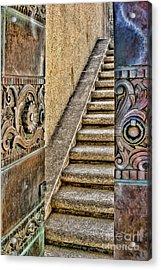 Wrigley's Bronze Doors By Diana Sainz Acrylic Print