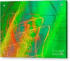Write Light Rainbow Acrylic Print