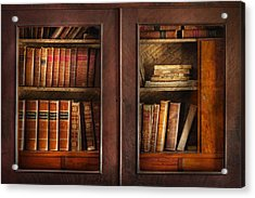 Writer - Books - The Book Cabinet  Acrylic Print by Mike Savad