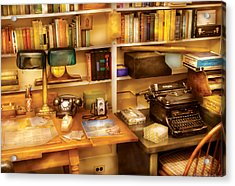 Writer - The Desk Of A Writer  Acrylic Print by Mike Savad