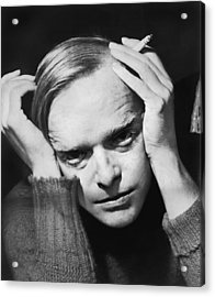 Writer Truman Capote Acrylic Print by Roger Higgins