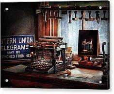 Writer - Typewriter - The Aspiring Writer Acrylic Print by Mike Savad