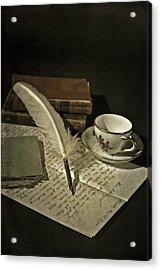 Writing Acrylic Print by Joana Kruse