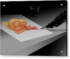 Written Acrylic Print by Alice Chen