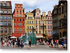 Wroclaw Old Town In Poland Acrylic Print by Jacqueline M Lewis