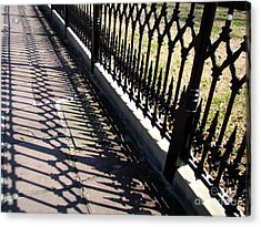 Wrought Iron Fence Acrylic Print by Eva Kato