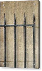 Wrought Iron Gate Acrylic Print by Brenda Bryant