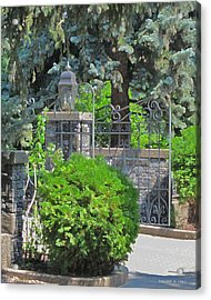 Wrought Iron Gate Acrylic Print by Donald S Hall