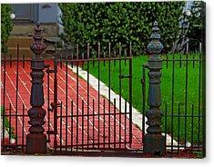 Wrought Iron Gate Acrylic Print by Rowana Ray