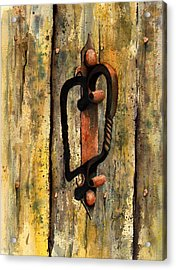 Wrought Iron Handle Acrylic Print by Sam Sidders