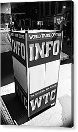 Wtc Info Sign Acrylic Print