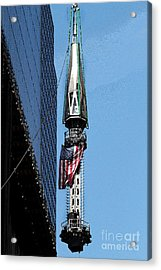 Wtc Spire Going Up Acrylic Print