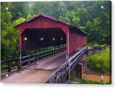 Wv Covered Bridge Acrylic Print