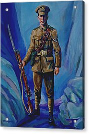Ww 1 Soldier Acrylic Print by Derrick Higgins