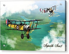 Ww1 British Sopwith Scout Acrylic Print by John Wills