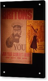 Ww1 Recruitment Posters Acrylic Print