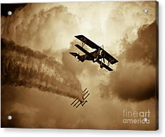 Wwi Dog Fight Acrylic Print