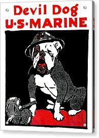 Wwi Marine Corps Devil Dog Acrylic Print by Historic Image