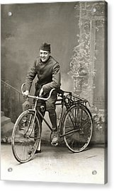 Wwi Us Army Bicyclist Acrylic Print by Historic Image