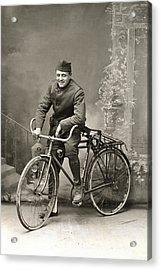 Wwi Us Army Bicyclist Acrylic Print