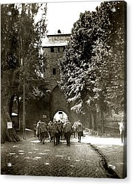Wwi Us Soldiers In The Rhine Acrylic Print by Historic Image