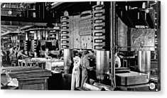 Wwii Aircraft Factory Acrylic Print by Underwood Archives