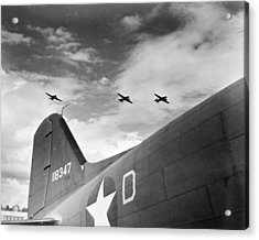 Wwii Paratroopers, C1942 Acrylic Print by Granger