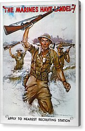 Wwii Recruiting Poster Acrylic Print by Granger