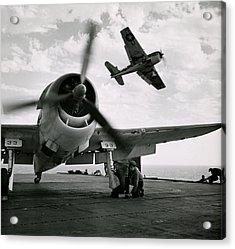Wwii Us Navy Hellcats Acrylic Print