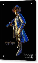 Wyatt Earp Statue Hdr Poster Acrylic Print by Andreas Hohl