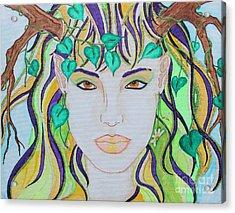 Wyld Spring Spirit Acrylic Print by Luanna Swaney
