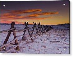 Wyoming Apocalypse Acrylic Print by Aaron Bedell