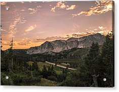 Wyoming Snowy Range Mountains Acrylic Print by Michael J Bauer