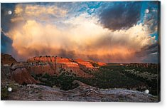 Wyoming Sunset Acrylic Print by Leland D Howard