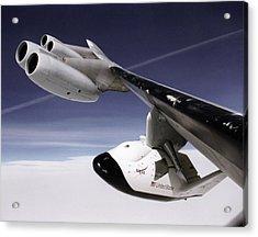 X-38 Spacecraft On B-52 Wing Acrylic Print