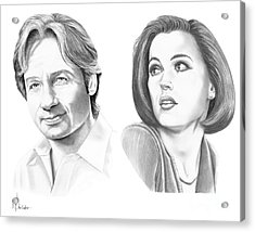 X-files  Acrylic Print by Murphy Elliott