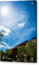 Acrylic Print featuring the photograph X Marks by Rhys Arithson