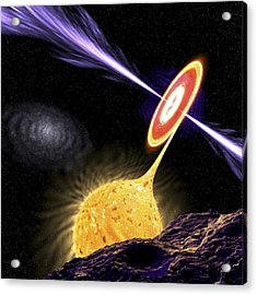X-ray Binary System, Artwork Acrylic Print by Science Photo Library