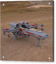 X-wing On The Ground Acrylic Print by John Hoagland