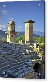 Xanthos Tombs And Amphitheatre Acrylic Print by David Parker