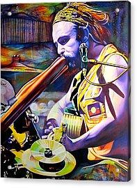 Xavier Rudd Acrylic Print by Joshua Morton