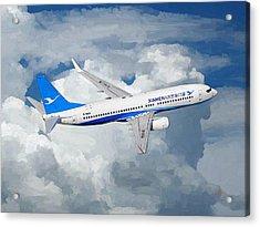 Xiamen Airlines Boeing 737 800 Acrylic Print