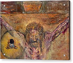 Xii Station Jesus Dies On The Cross Acrylic Print by Patricia Trudeau