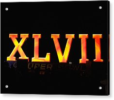 Acrylic Print featuring the photograph Xlvii Super Bowl Sign by Photography  By Sai