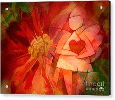 Xmas Angel Acrylic Print by Lutz Baar