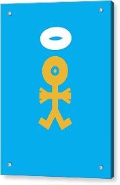 Xmas Baby Angel Icon Acrylic Print by Thisisnotme