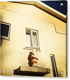 Xmas Decoration With Santa In June Akureyri Iceland Acrylic Print